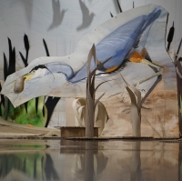 detail: Great Blue Heron