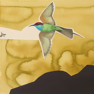 Painting of Blue-throated Bee Eater by David Tomb